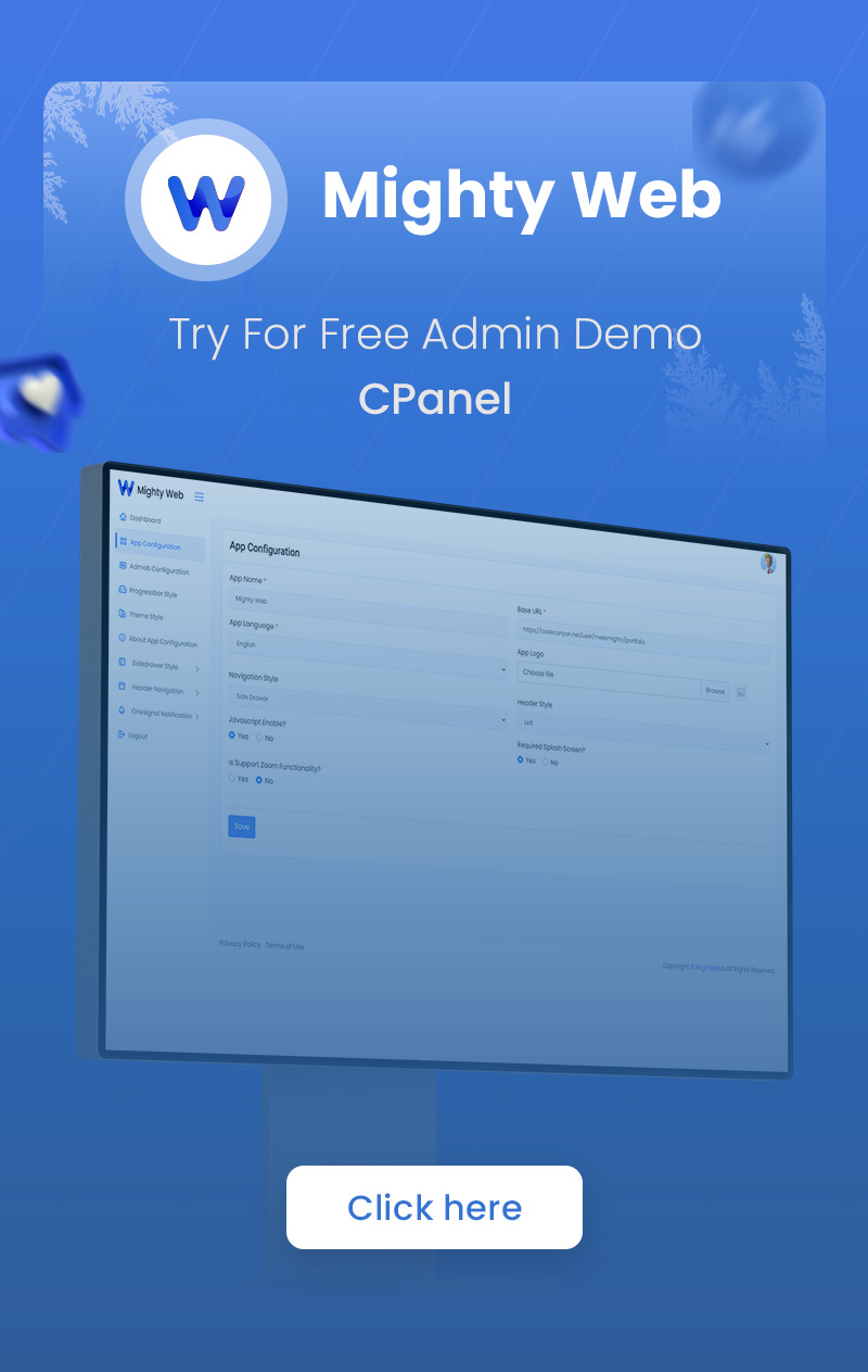 MightyWeb Flutter Webview - Convert Your Website To An App + Admin Panel - 4