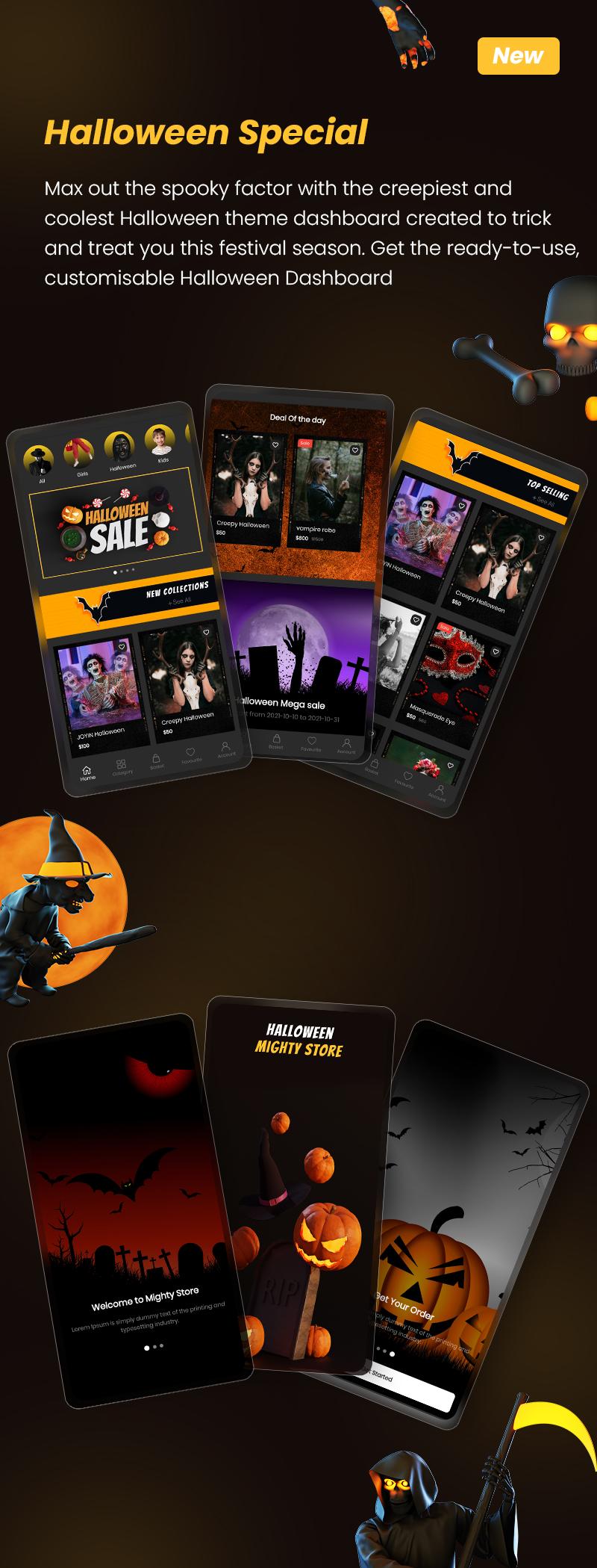 MightyStore E-commerce Flutter Full App: Single + Dokan Multi Vendor + WCMp + Admin App - 4
