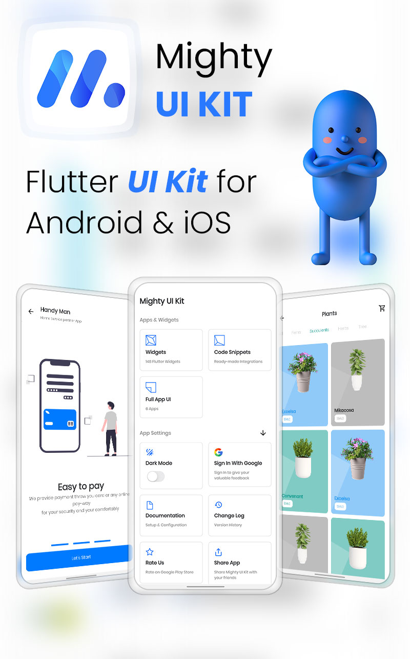 MightyUIKit - Flutter 2.0 UI Kit with Screen Builder - 4
