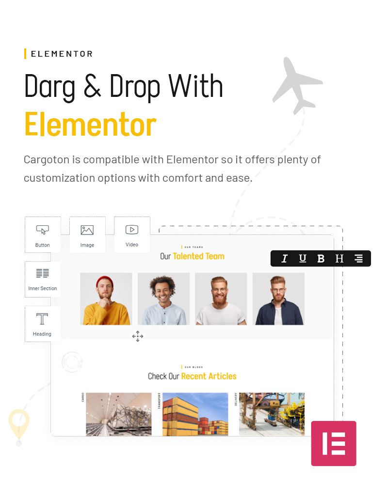 Cargoton - Transport & Logistic WordPress Theme - 8